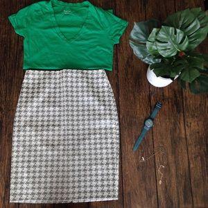 New York & Company Houndstooth Pencil Skirt